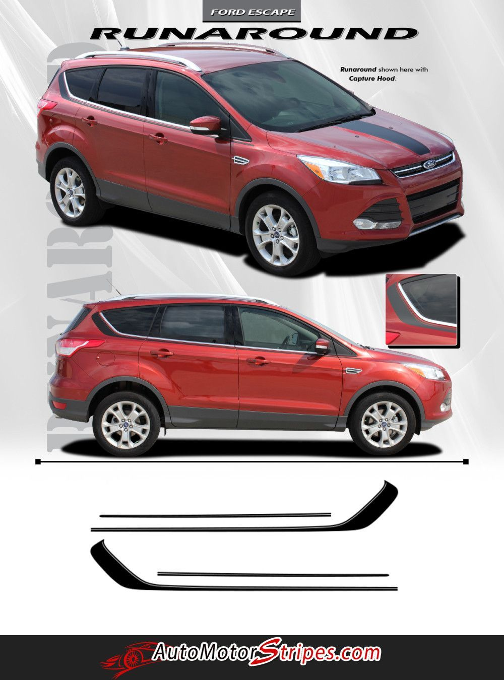 4x Car Doorsteps Sticker fits Ford Mondeo Scorpio Car Vinyl Decal Graphics LF16