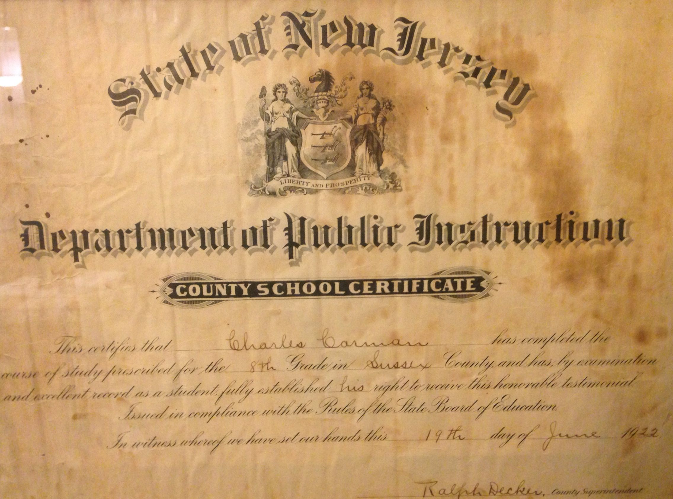 June 19 State Of New Jersey Department Of Public