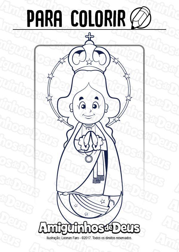 Nossa Senhora De Caacupe Desenho Para Colorir Com Imagens
