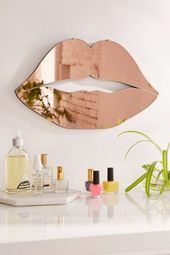 Photo of Lips Mirror – Urban Outfitters  – HOME FURNISHINGS. –   #Furnishings #Home #Lips…
