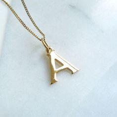 c1ec73e45cefc Gold Letter Charm Ne   Necklaces in 2019   Letter charm necklace ...