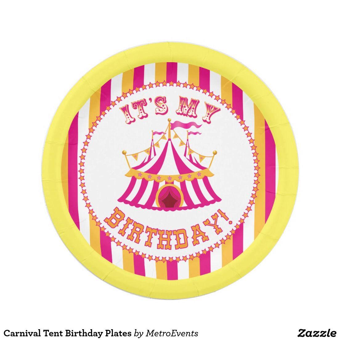 Carnival Tent Birthday Plates