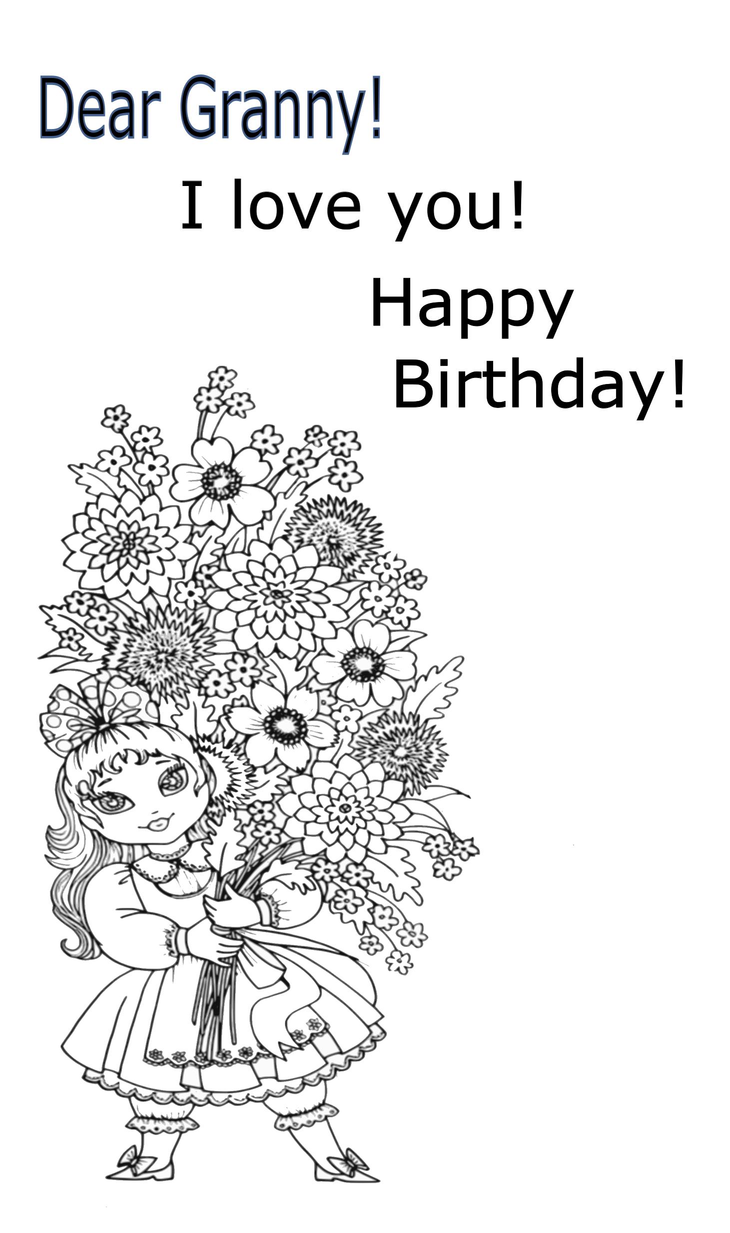 21+ Happy birthday great grandma coloring page HD
