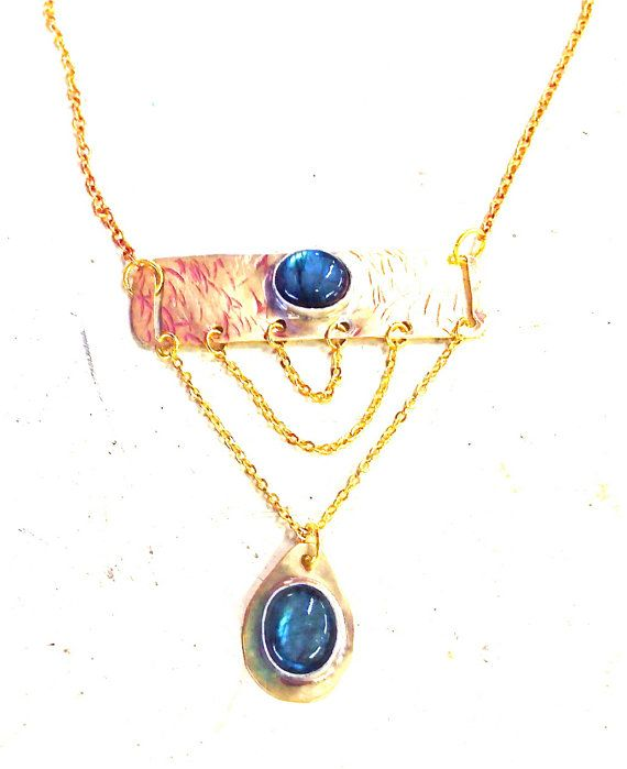 Labradorite Layered Chains by guadalupejewelry on Etsy, $120.00
