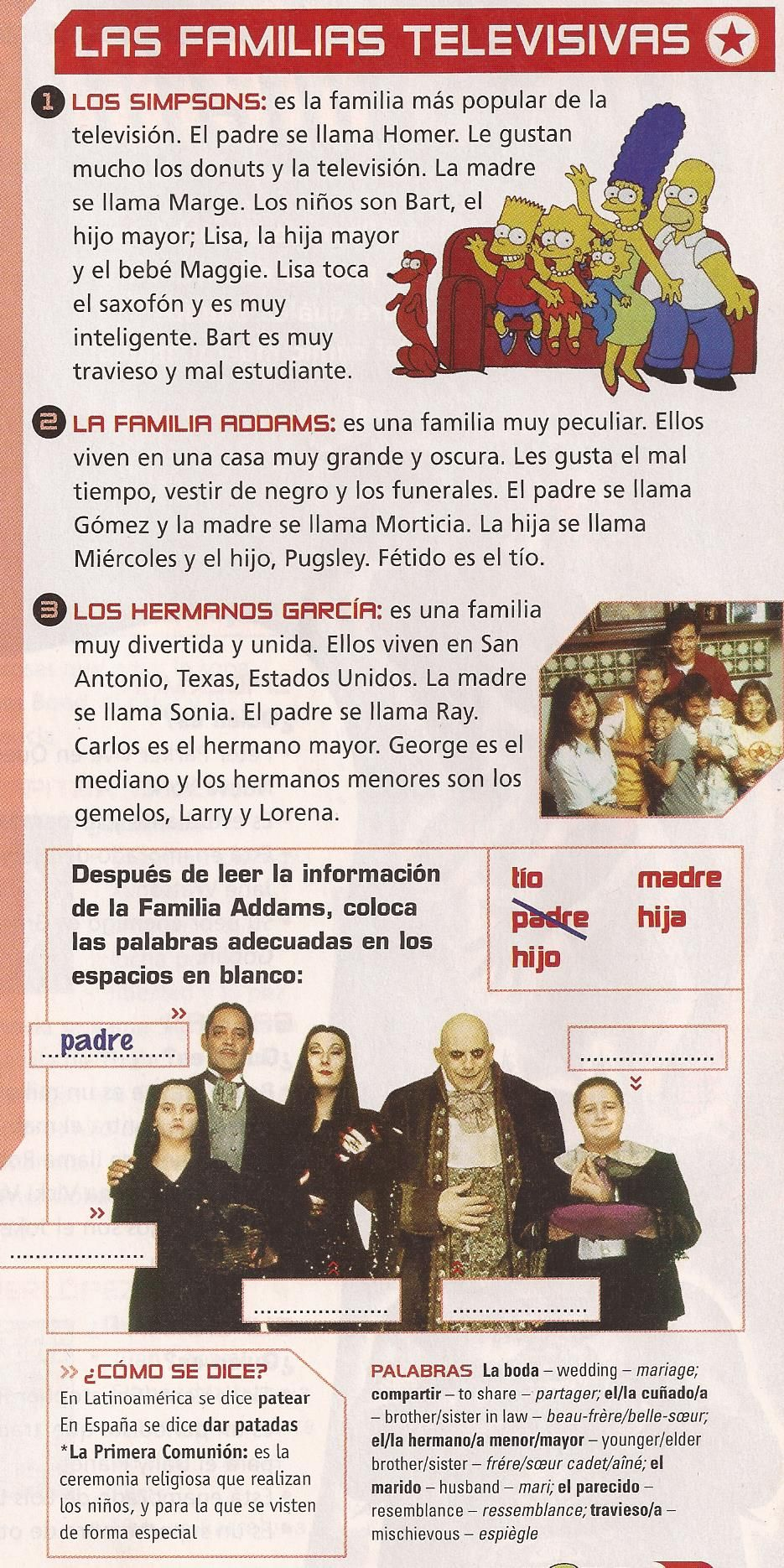 spanish essay describing family Like in english, preterite and imperfect tenses in spanish are not interchangeable in this lesson, you will be learning how to correctly use the preterite and imperfect to describe things and people.