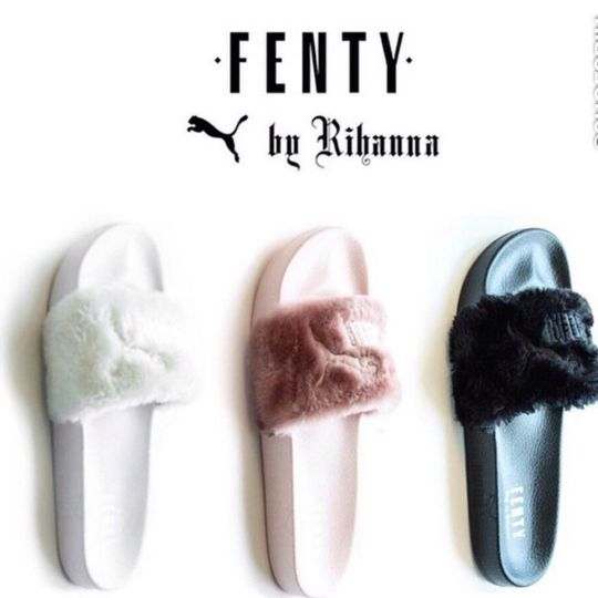 buy popular f4a38 c053f Rihanna Puma Slippers | Fenty Puma by Rihanna | Shoes, Puma ...
