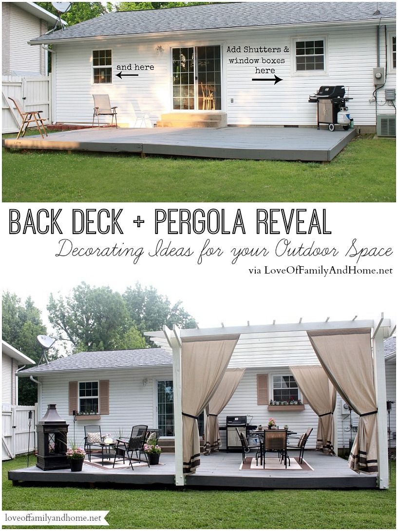 Back Deck + Pergola Reveal - Decorating Ideas for your Outdoor Space ...