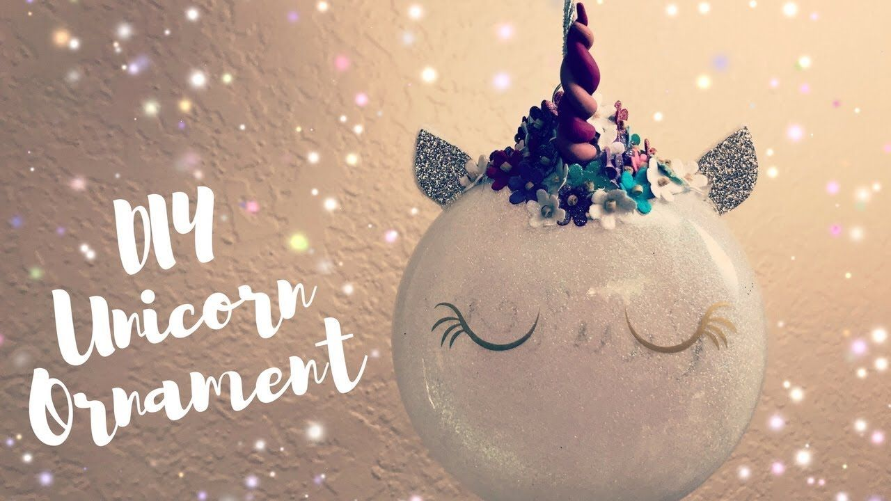 how to make unicorn ornaments polymer horn diy cricut christmas decorations youtube - Youtube Homemade Christmas Decorations