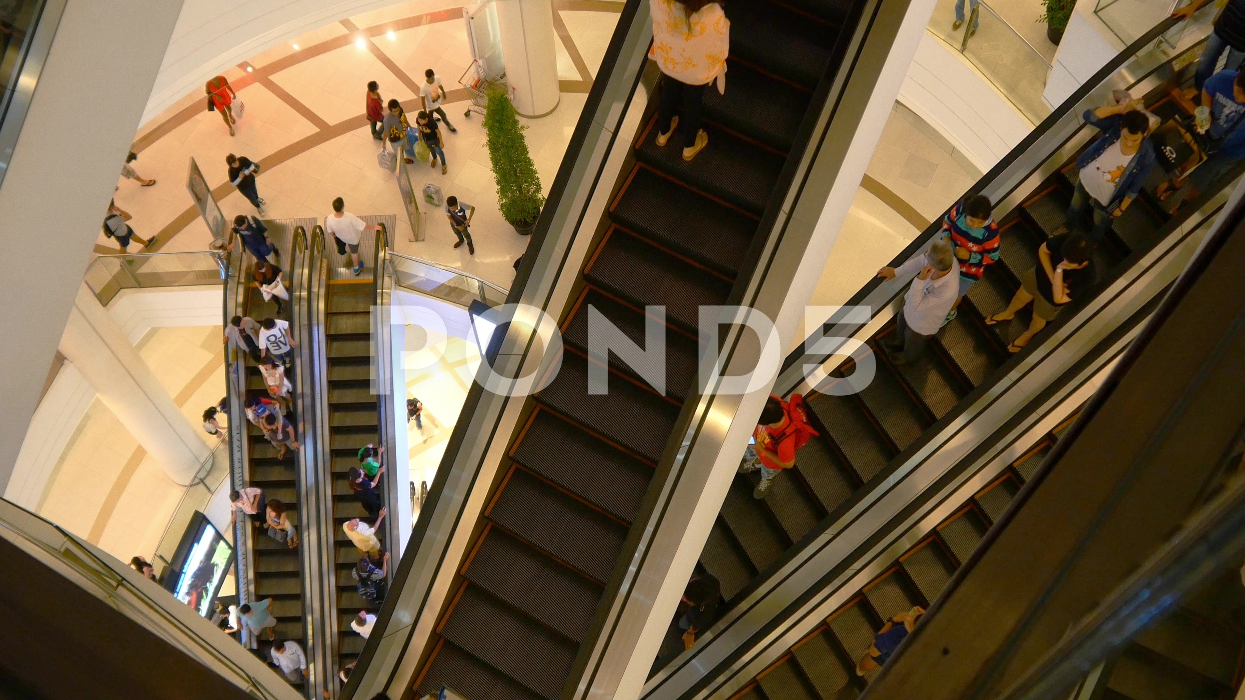 Escalator 4k Shopping Mall Crowd Of People Buy Shop Center Centre Sales Shops Stock Footage Crowd People Buy Escalator Escalator Buy Shop Shopping Mall