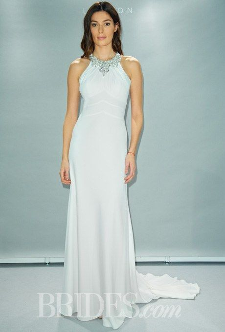 Fall 2014 Wedding Dress Trend: Built-In Necklaces | Fancy, Crepes ...