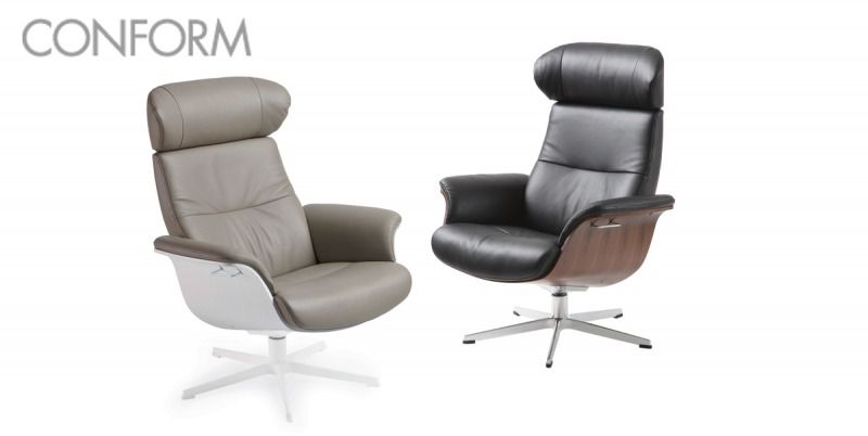 TimeOut -tuoli, sakarajalka, nahkaverhoilu HR10