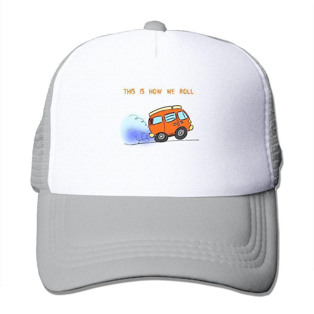 1e0704fcdbb1f Unisex Funny Retro Camping Good Vibes Adjustable Mesh Hat Trucker Baseball  Cap. Funny Retro Camping