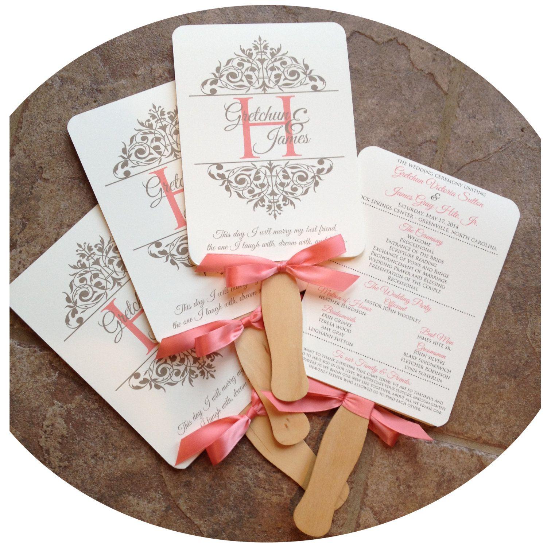 Wedding Program Fans Elegant Scroll | Wedding Board Ideas ...