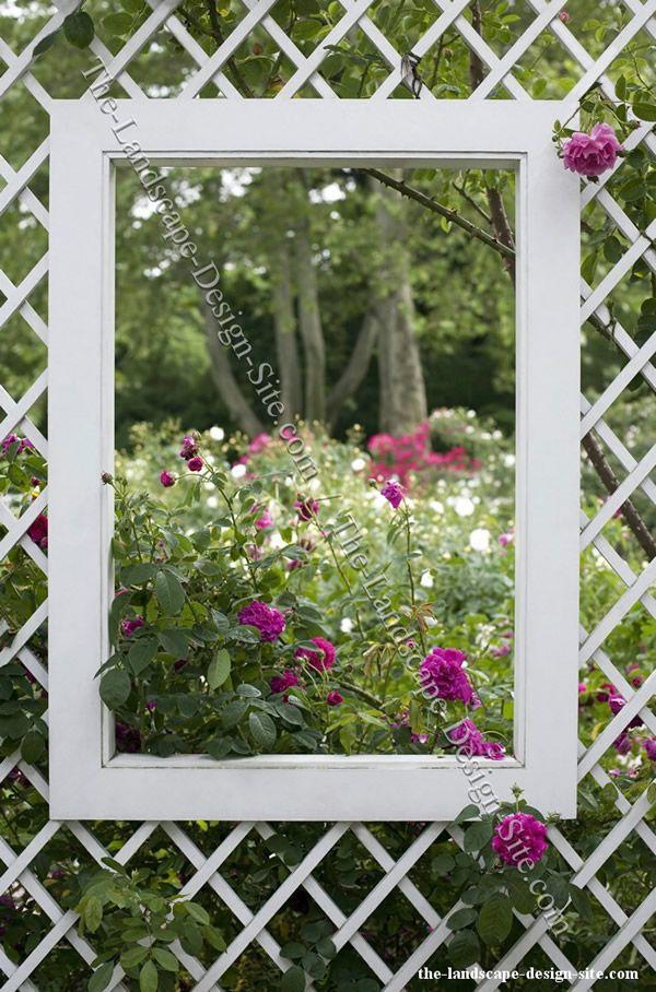 precioso marco para precioso fondo   obras en el jardin   Pinterest ...
