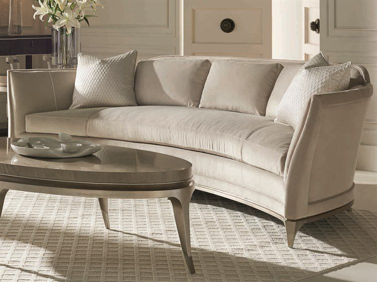 Caracole Classic Silver Curved Sofa Curved Sofa Living Room Curved Sofa Classic Sofa