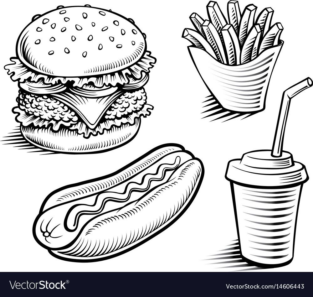 Hamburger Clipart Black And White In 2021 Clipart Black And White Food And Drink Clip Art