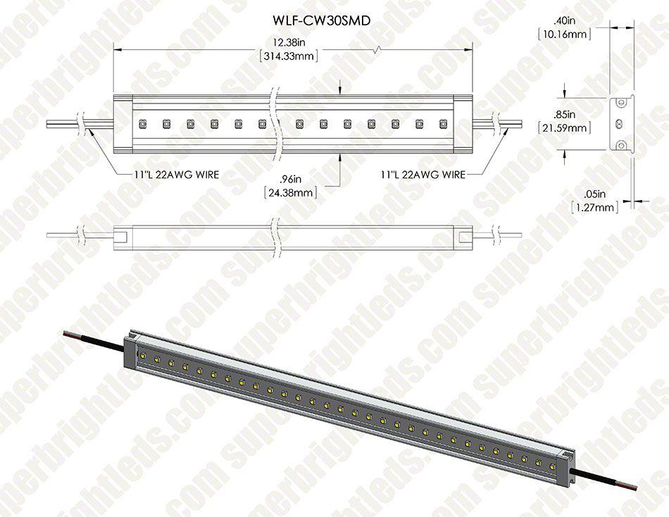 Waterproof Linear Led Light Bar Fixture 390 Lumens Bar Lighting Led Lights Linear Lighting