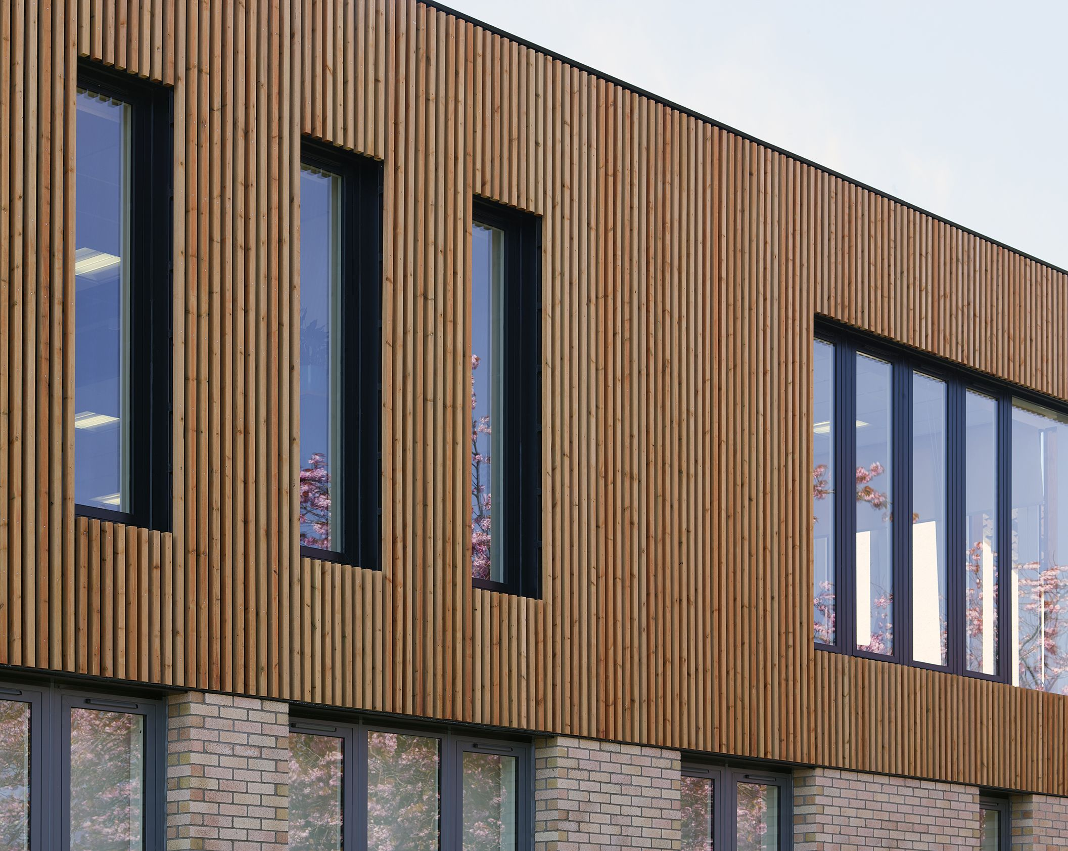 Thistle Foundation Centre Of Health Wellbeing Edinburgh By Timber Cladding Brick And Pre Cast Concrete To Exterior Photography Courtesy Cadzow