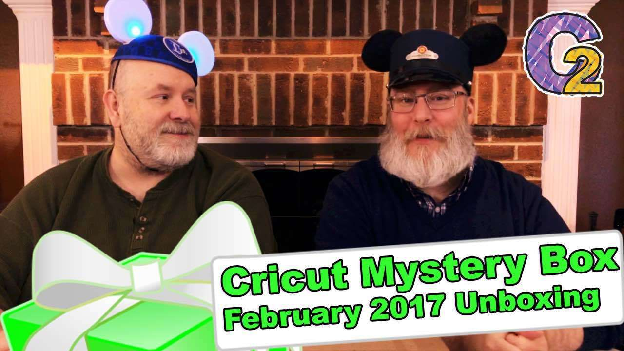 """Cricut Mystery Box - February 2017 Unboxing - http://www.craftsbytwo.com/cricut-mystery-box-february-2017-unboxing/  Will the February Cricut Mystery Box make your home the happiest place on Earth this month? Join us to see what we received!  Visit our blog for easy shopping links, the best coupon code, with a gallery and list of the Mystery Box contents if you don't want to watch the video!  Check out """"Cricut Mystery Box - February 2017 Unboxing"""" on the Crafts By Two w"""