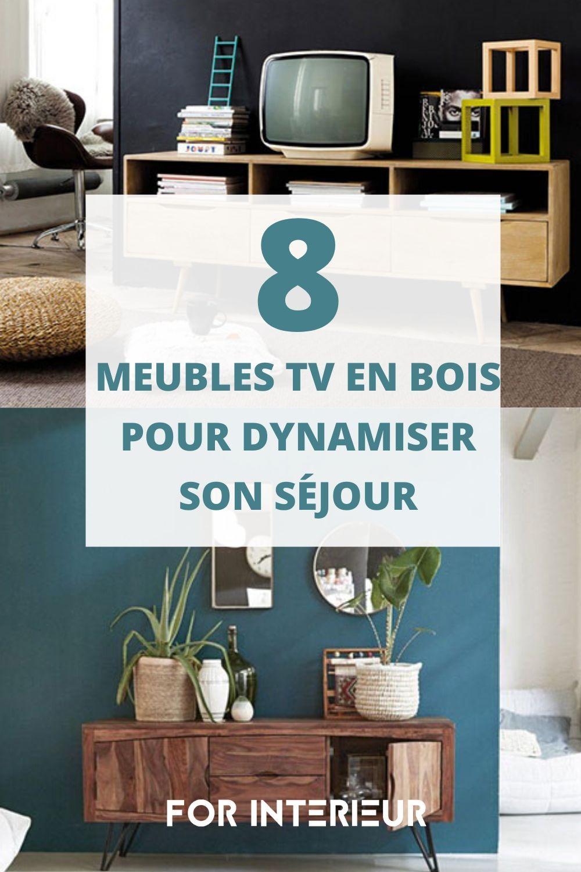 Meuble Tv Bois Quel Modele Choisir Pour Dynamiser Son Sejour En 2020 Meuble Tv Bois Meuble Tv Mobilier De Salon