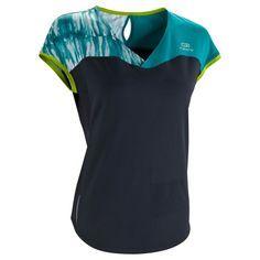 69aade672 RUNNING textil - Camiseta de manga corta de running mujer Kalenji Eliofeel  azul