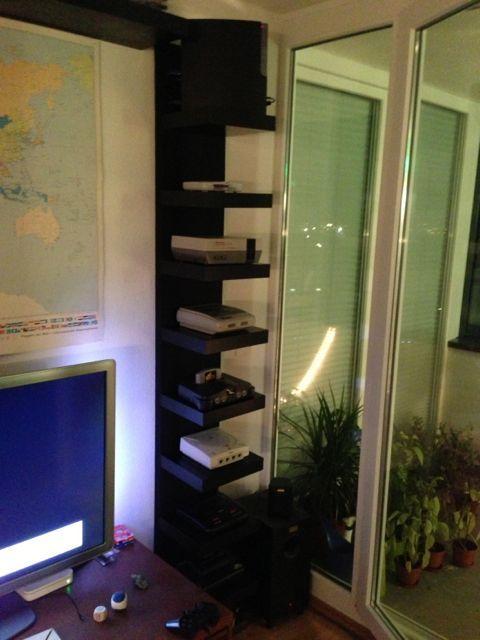 Lack Video Console Shelf With Hidden Cables Game Console Shelf Console Shelf Video Game Console Shelf