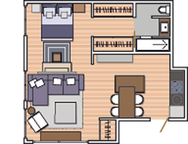 Pin de patricia alberca en interior design small house for Decoracion de casas de 30 metros cuadrados