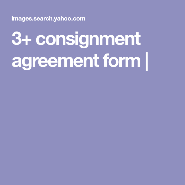 Consignment Agreement Form   Consignment Shop Forms