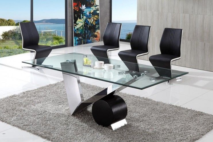 Buy Now The Valencia Glass Dining Table With Amari Chairs