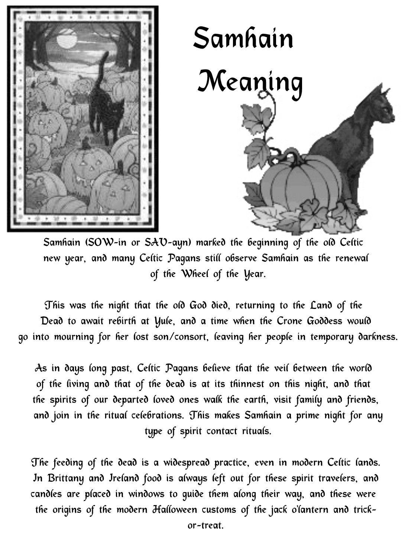 3 The meaning of Samhain | Pagan Holidays | Wiccan sabbats, Samhain