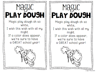 A day in first grade: Magic Play Dough poem and recipe...so cute ...