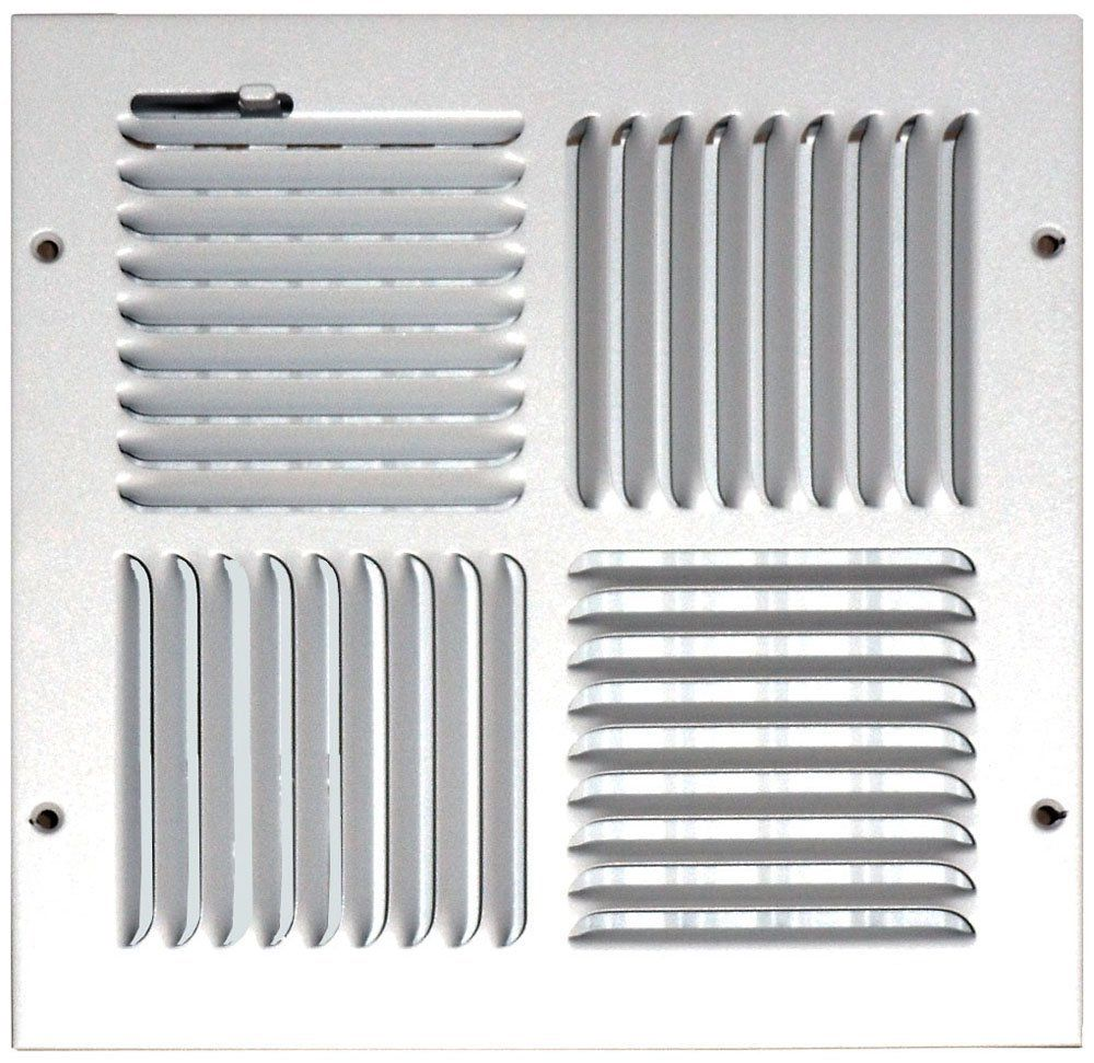 Speedi Grille Sg 1010 Cw4 10 Inch By 10 Inch White Ceiling Sidewall Vent Register With 4 Way Deflection Click Image For More Detail Vent Registers 10 Things