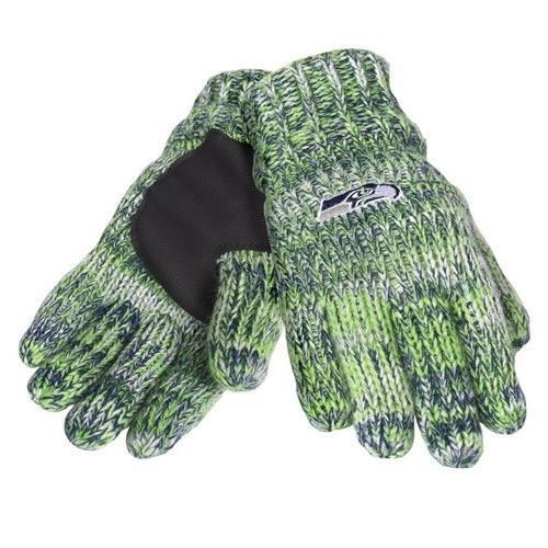 Discount Seattle Seahawks Team Logo Winter Peak Gloves | Products | Knitted  hot sale