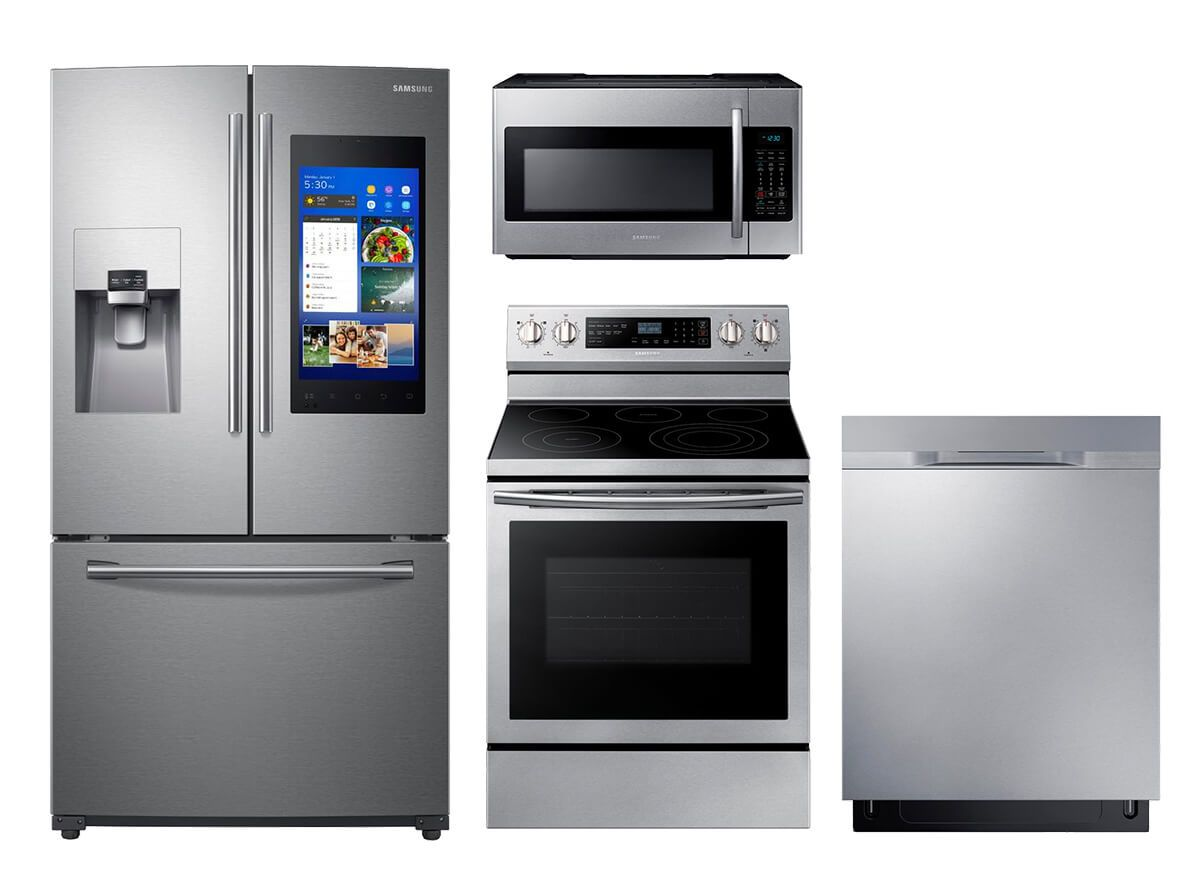 Swell Samsung Family Hub 4 Pc Suite Appliances In 2019 Interior Design Ideas Helimdqseriescom