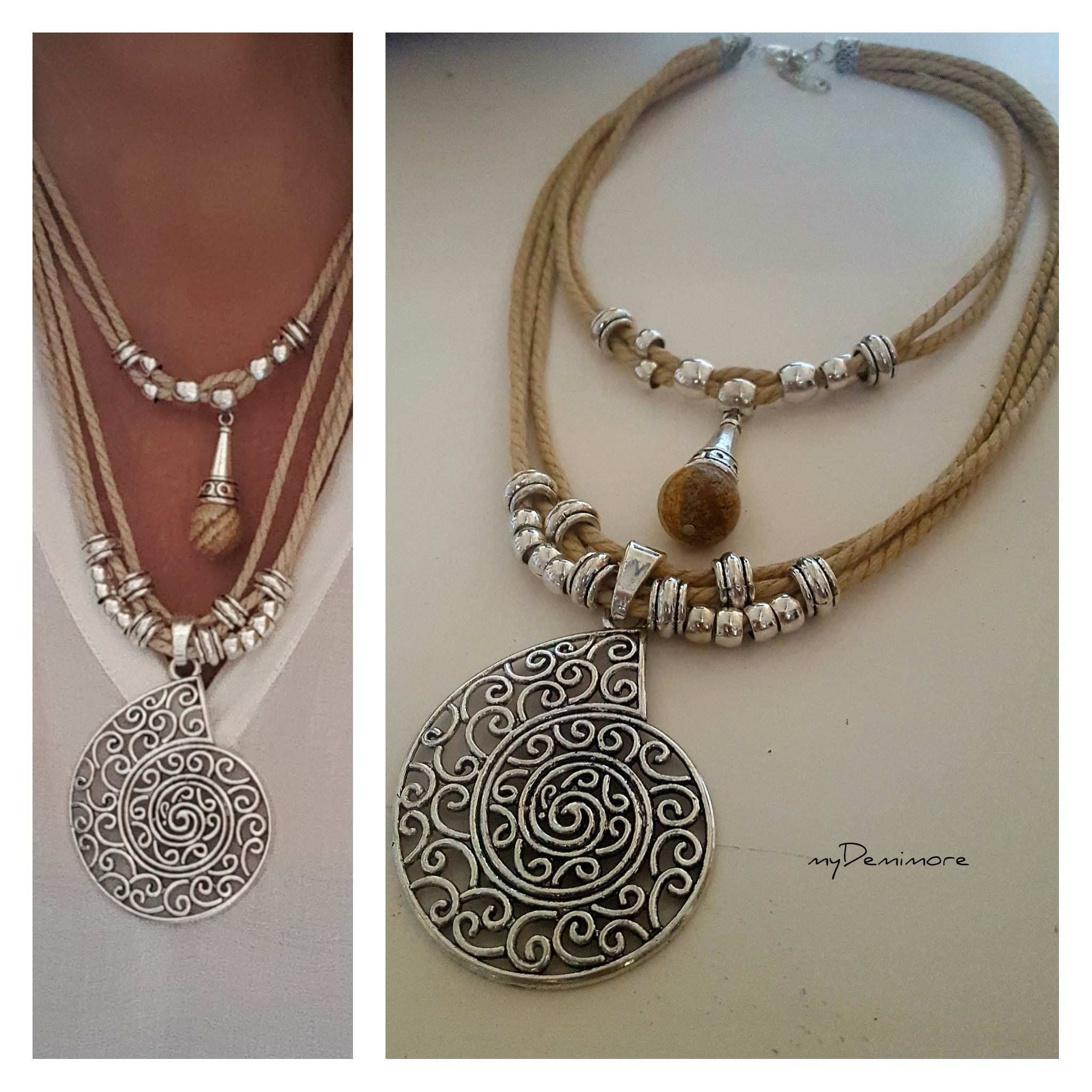 panacea a of shirt jewelry img white woman wearing pom front necklace tank tassel with turquoise in product