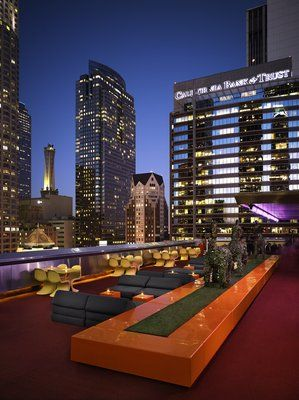 A Hollywood View From A Rooftop Pool Cabana At Dream Hotel Los