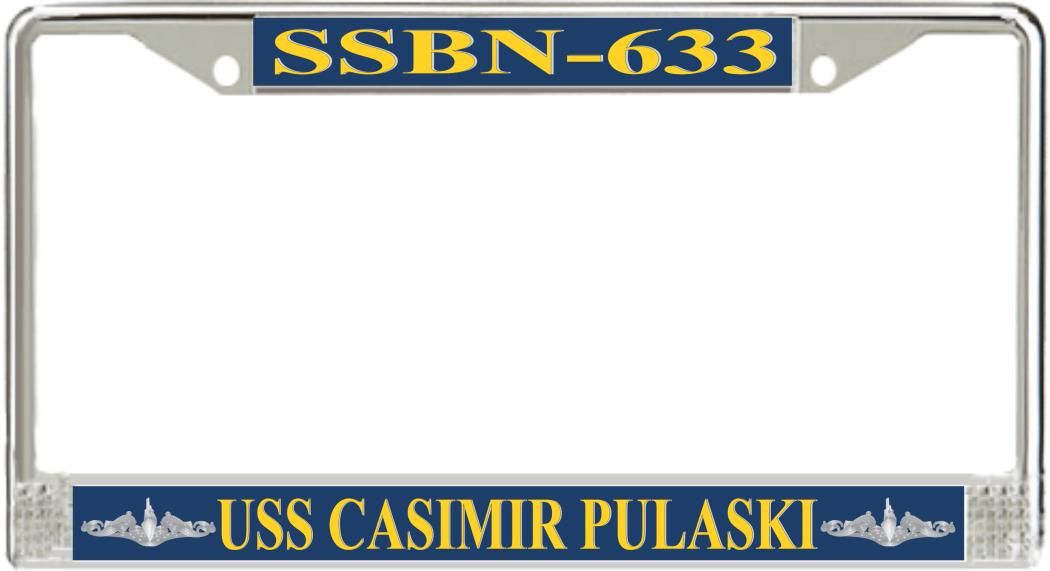 USS-CASIMIR-PULASKI-SSBN-633-License-Plate-Frame | US Navy Submarine ...
