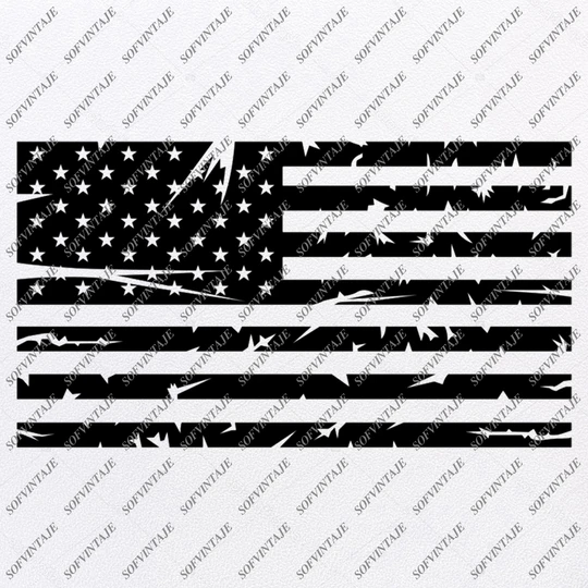 Black and white United States flag clipart. Commercial use GIF, JPG, PNG,  EPS, SVG, PDF clipart # 379774 | Graphics Factory