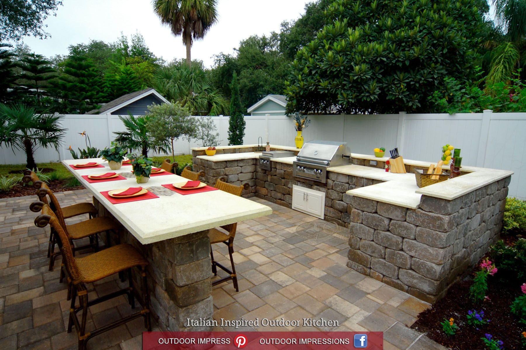 Yard Crashers Outdoor Impressions Tampa Fl Riverview Fl Outdoor Kitchen Outdoor Kitchen Countertops Yard Crashers