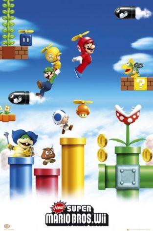 Nintendo Mario Luigi Plakat Super Mario Bros Super Mario Mario