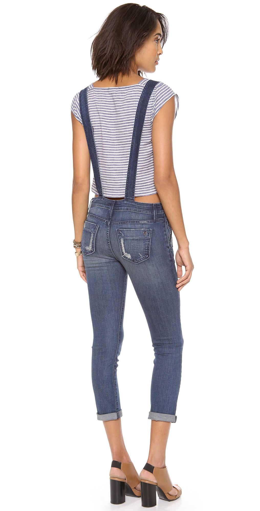 ONE by Black Orchid Skinny Overalls | SHOPBOP