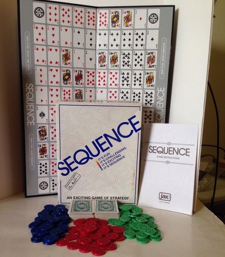 Sequence Game Folding Board Cards Chips Children Adult Easy