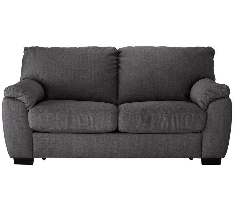 Buy Argos Home Milano 2 Seater Fabric Sofa Bed Charcoal Sofa Beds Charcoal Sofa Fabric Sofa Sofa