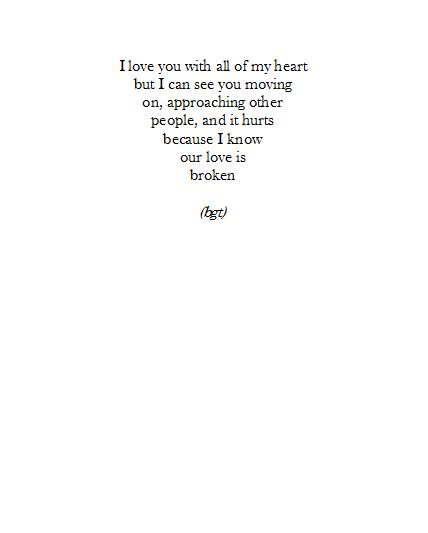 Our love is broken