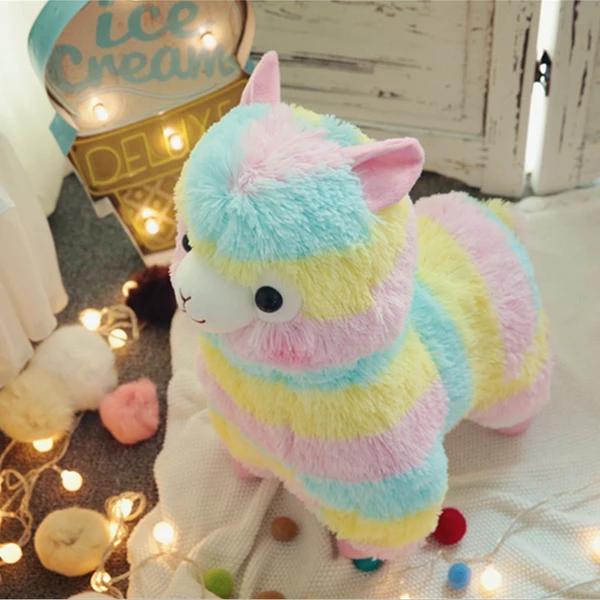 Kawaii Rainbow Alpaca Plush Toy Kawaii alpaca, Plush toy