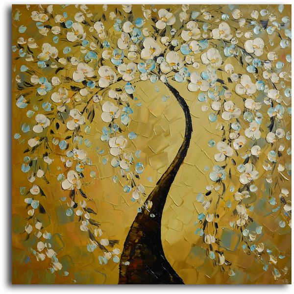 Shimmering bow\' Hand Painted Oil Painting - Overstock™ Shopping ...