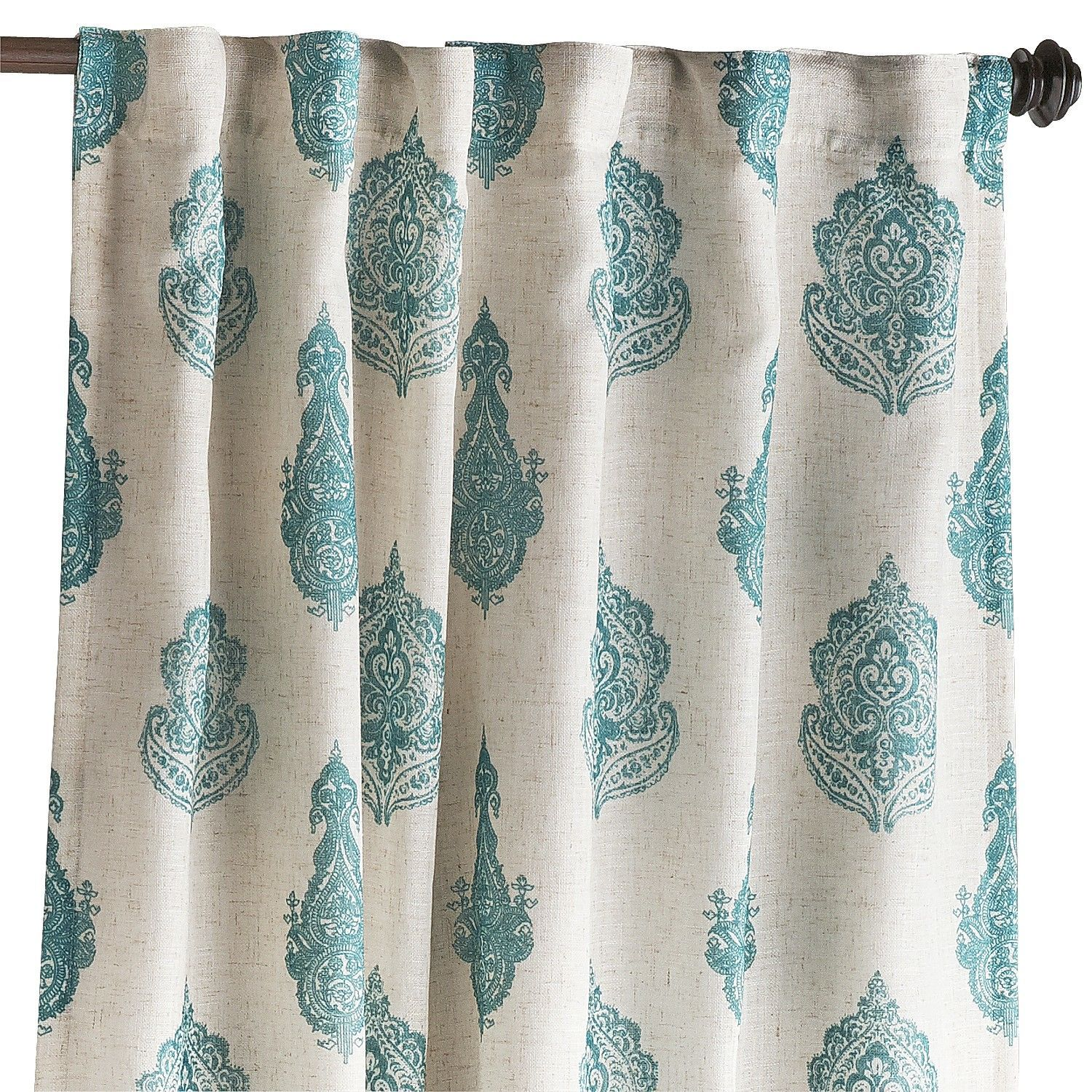 Teal Bedroom Curtains Rambagh Paisley Teal Curtain Paisley Curtains Pier 1 Imports