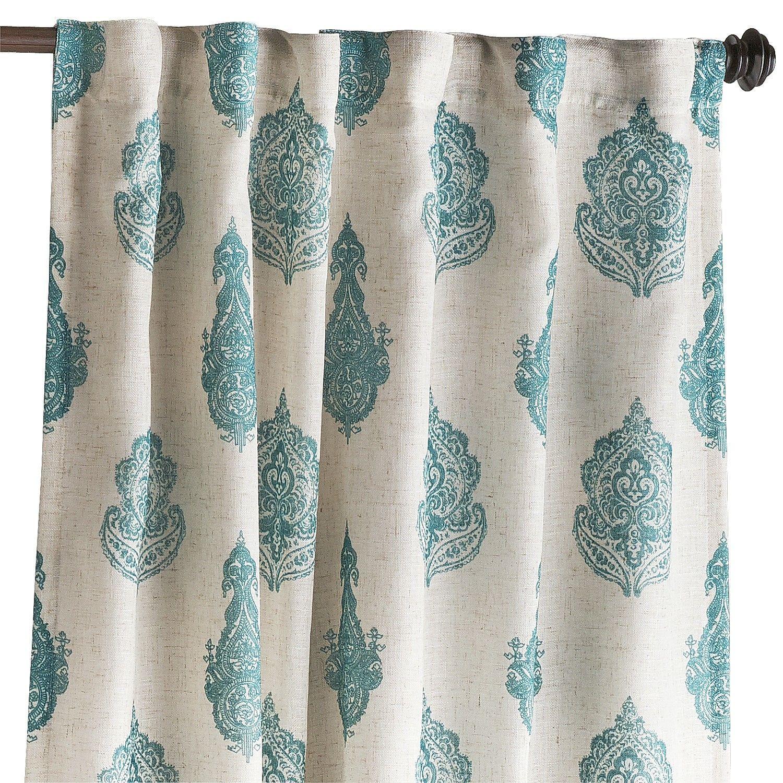 Rambagh Paisley Teal Curtain