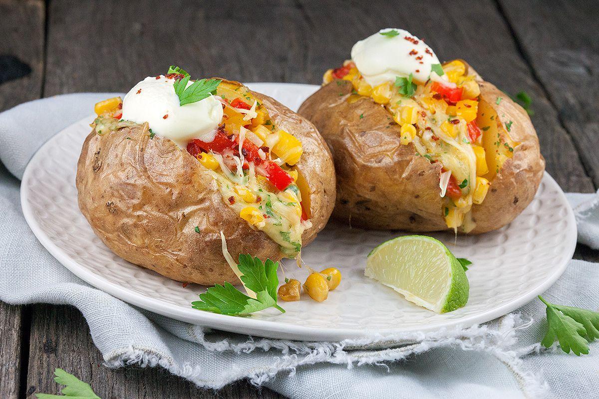 Mexicaanse gepofte aardappel - ohmydish.nl #nachosmetkaasuitdeoven