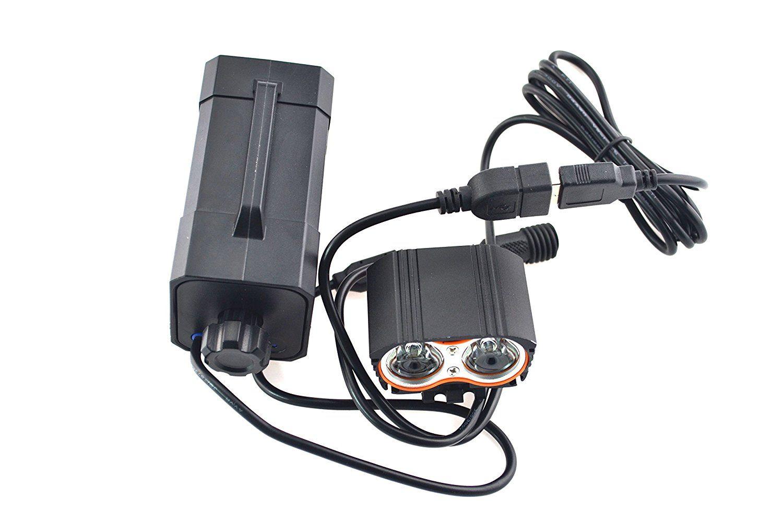 Amazon Com Gugou Waterproof Cree T6 Led Bike Light 8 4v Rechargeable Li Ion Battery Pack Battery Box Sports O Bike Lights Led Bike Lights Bike Headlight
